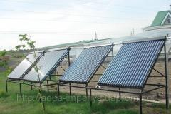 Solar collector for hot water and heating of