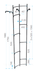 Steel water ladder