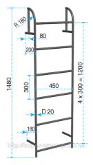 Steel heatnetwork ladder
