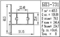 The aluminum shape BPZ - 731