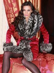Fur coat Silver fox 8
