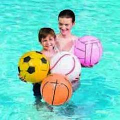 Beach ball, sport, White. Ø 41 cm.