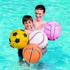 Мяч пляжный,  спорт,  Желтый. Ø 41см