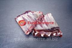 Los bordes de carne de la espátula