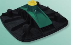 Опорная система BIS Yeti ® 480 горизонтальная - с антивибрационным ковриком. Артикул 6768 5 101