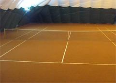 Строительство теннисных грунтовых кортов на