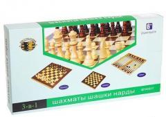 Шахматы, шашки, нарды  дерево, р-р доски 35см*35см