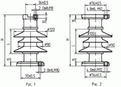Изоляторы полимерные опорные стержневые ИОСК 4-10-80-I УХЛ1, ИОСК 6-10-80-I УХЛ1, ИОСК 6-10-80-II УХЛ1