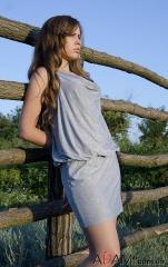 Платье из мягкого трикотажа, Артикул №285214