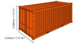 20-foot standard containers. Maritime containers