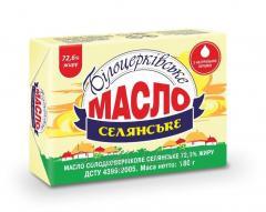 Масло сладкосливочное «Крестьянское» 72,6 жира,  180 г, эколин