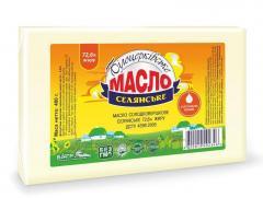 Масло сладкосливочное «Крестьянское» 72,6% жира,  400 г, пергамент
