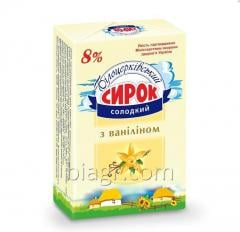 Sweet curd snack with vanilla, 8% fat, 90 g,