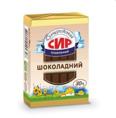 Сhocolate sweet processed cheese, 30% fat in dry matter, 90 g, aluminum foil