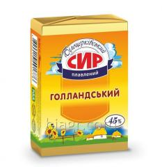 Processed cheese Hollandskyi, 45% fat in dry matter, 90 g, aluminum foil