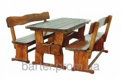 A natural tree furniture for cafe, a set wooden