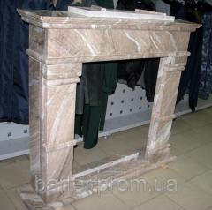 Fireplace marble. Portal marble
