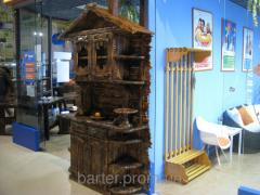 Furniture wooden made old artificially