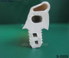 The profile is rubber silicone