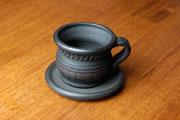 Дымленая керамика. Чашка кофейная