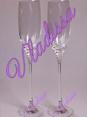 Wedding glasses with SWAROVSKI Crystals