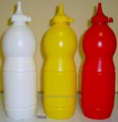Bottle plastic for toppings and sauces