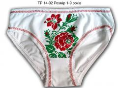 Panties TR 14-02 age 1-9 years ornament red roses
