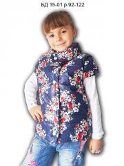 Безрукавка БД 15-01 р. 92-122 для девочек, цветы