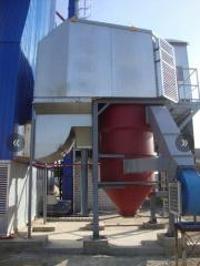 The thermal generator on biomass (straw, pellets,