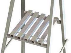 Step-ladders are fiberglass