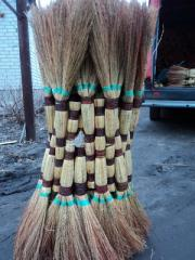 Broom from a sorghum