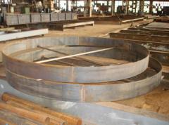 Изделия из металлов, металлоконструкции: каркасы