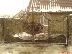 Gate are steel openwork