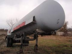 The automobile tank for transportation of a liquefied gas the PPTsZ semi-trailer of 12,5 CBM.