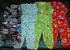 Пижама цветная на двух пуговицах начес 0105
