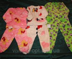 Пижама на двух кнопках махра рваная 0112