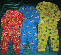 Пижама цветная на двух пуговицах кулир 0181