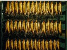Fish of hot and cold smoking.