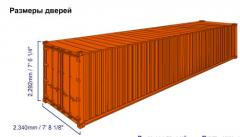 Standard 40-foot container
