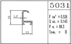 The aluminum shape - 5031
