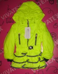 Демисезонная куртка 1858 лимонная 0567