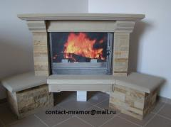 Fireplaces from sandstone