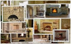 Sandstone, facing of fireplaces and barbecue