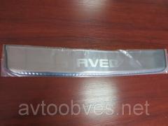 Накладка на задний бампер Chevrolet Aveo (шевроле