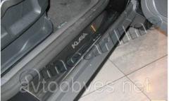 Накладки на пороги для Ford Fiesta (форд фиеста)