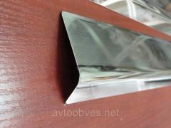 Накладки на пороги Hyundai i20 (хундай ай 20) с