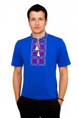 Вышитая футболка гладью Снежинка М-616-12