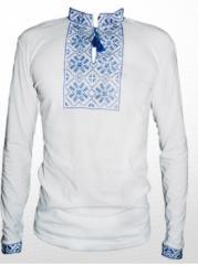 Вышитая футболка гладью Снежинка М-616-8