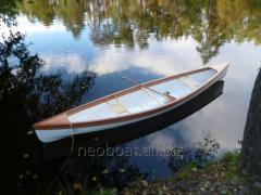 Canoe wooden for active recreation