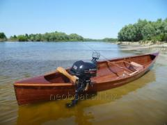 Traditional canoe. The boat on the Canadian